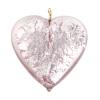 Glass Lamp Pendant Heart 26mm Light Amethyst/Silver